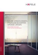 """Broschüre Schiebetürensystem """"Silent Aluflex 80"""" von Häfele"""